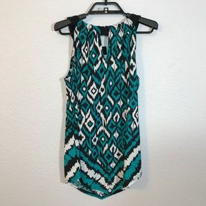 INC International Concepts Tops - INC NWT Twisted Teal Print Charmed Tank Top